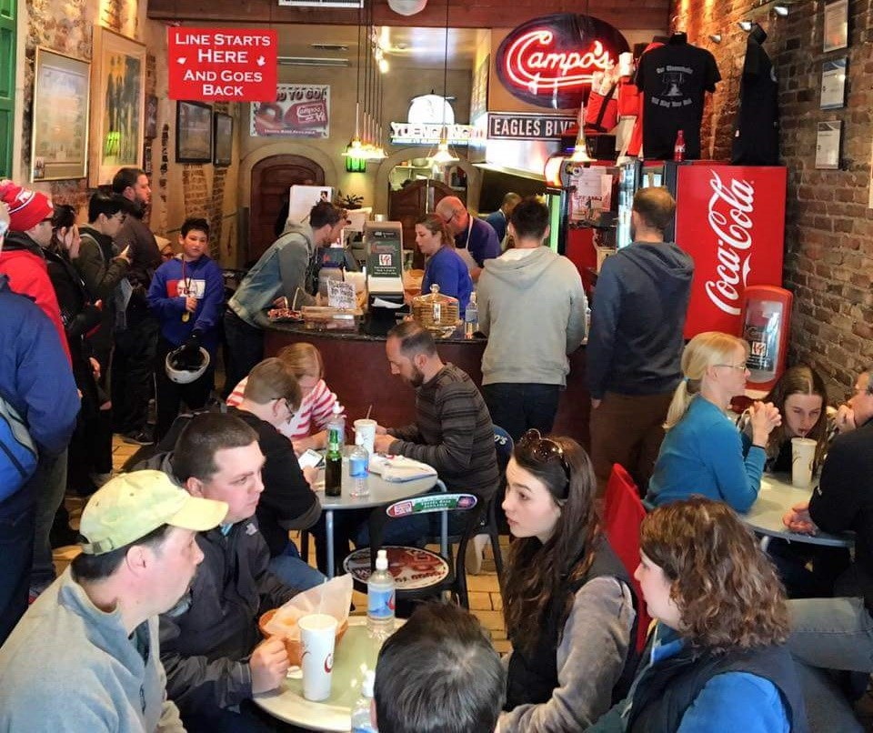 Best philly cheesesteak campos packed with customers