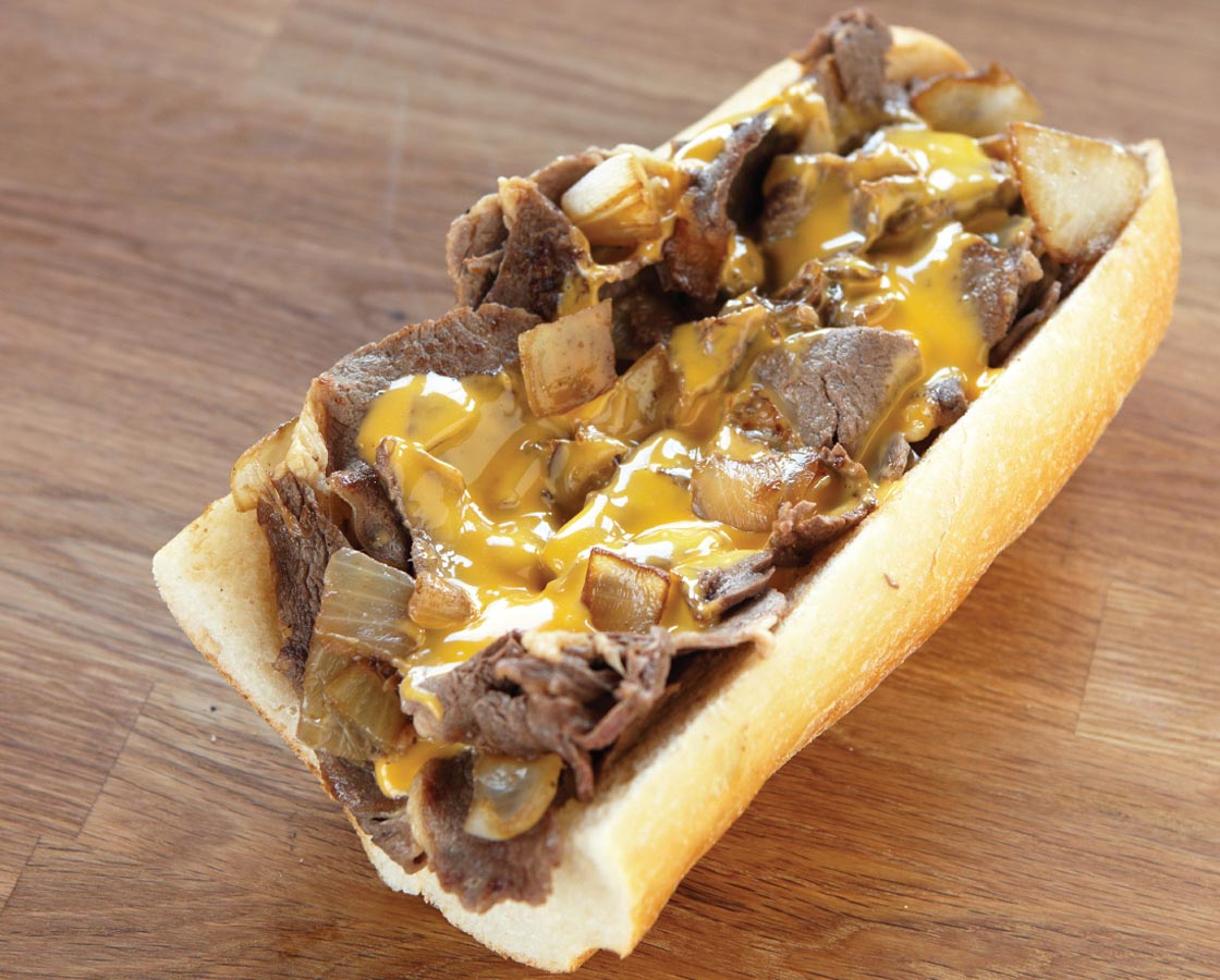 Philadelphia Sandwich Shop - Cheesesteak Wiz with Onions